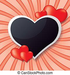 Photo frame whit heart