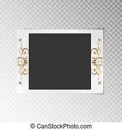 Photo frame with a pattern of gold foil - Photo frame with a...