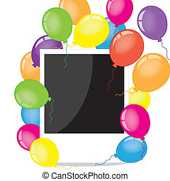 Photo frame with balloons