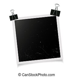 Photo frame with binder clip