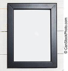 Photo frame with black border,