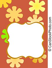 photo frame with flower background