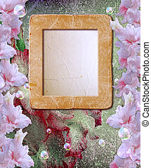 Photo frame with gladiolus