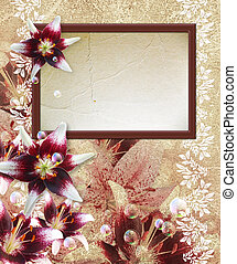 Photo frame with lily
