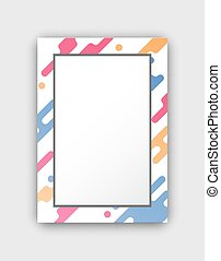 Photo Frame with Paint Splashes Border and Figures