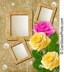 Photo frame with roses