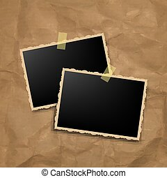 Photo Frame With Vintage Background
