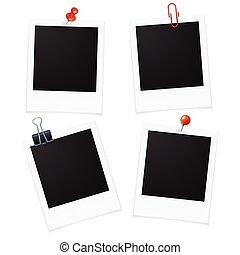 Photo Frames and Pin. Vector