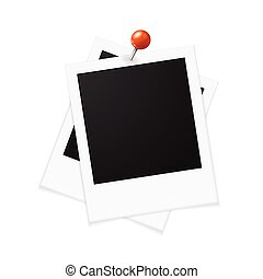 Photo Frames and Red Pin. Vector