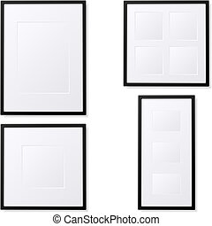 Photo Frames - Illustration of empty photo frames. Available...