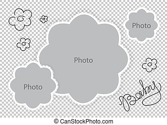 Photo frames flowers template for sweet baby