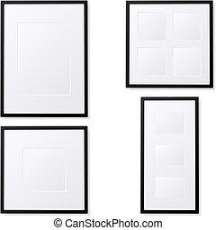 Photo Frames - Illustration of empty photo frames. Available...