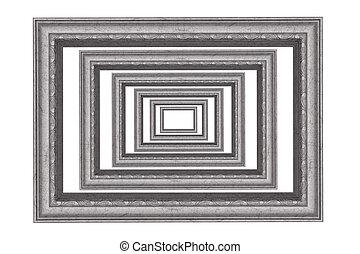 Photo frames isolated on white.