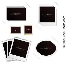 photo frames polaroid vintage set