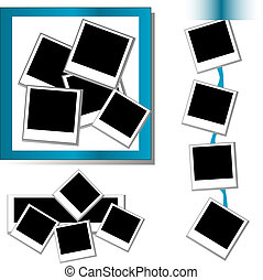 Photo frames set - set of Photo frames background and border...