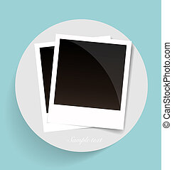 Photo frames, vector illustration.