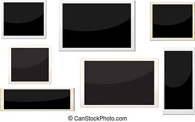 photo frames with different size, can replace image and message on it.