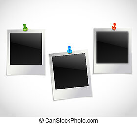 Photo frames with pushpins