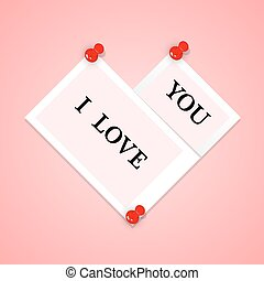 Photo frames with text in the form of heart