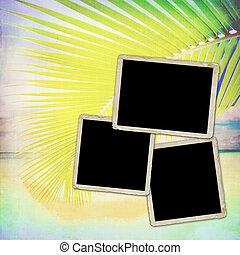 Photo frameworks background style grunge.