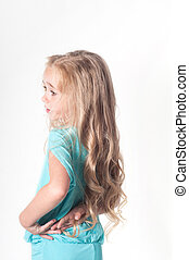Photo from the back of little girl