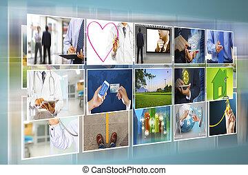 photo, galerie, numérique