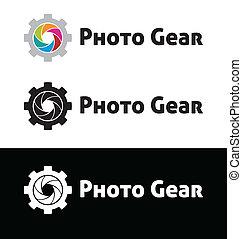 Photo gear logo template