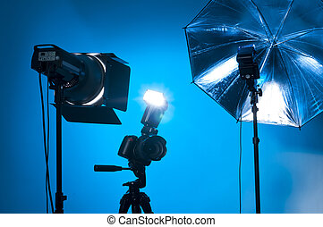 Photo gear - Studio equipment used by professional...