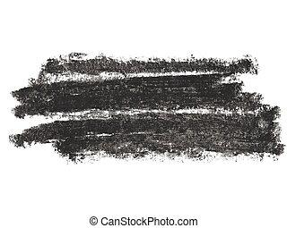 grunge black wax pastel crayon
