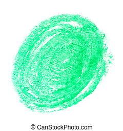 grunge green wax pastel crayon spot