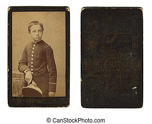 photo, gymnase, odessa, vendange, 1880., environ, écolier