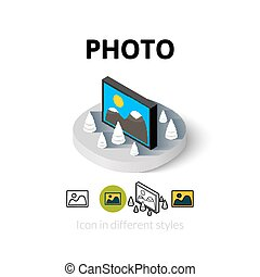 Photo icon in different style