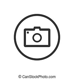 Photo icon on a white background