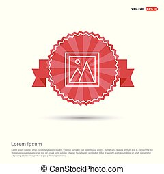 Photo icon - Red Ribbon banner