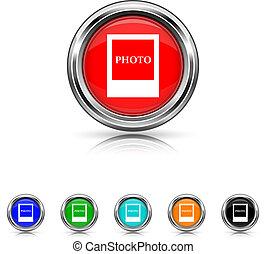 Photo icon - six colours set