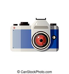 photo, illustration, lentille, vecteur, appareil-photo numérique