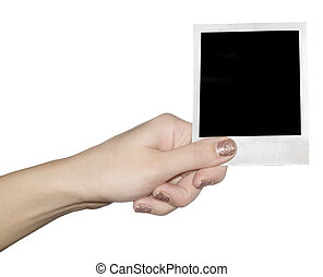 photo in a hand