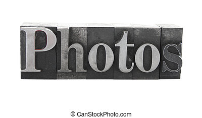 photo in old metal letters