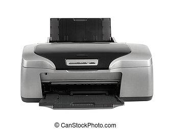 photo inkjet printer, isolated - photo inkjet printer, on...