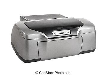 photo inkjet printer, on white background; isolated