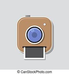 photo, instant, icône