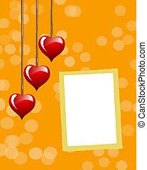 photo, jour valentine, frame.