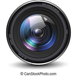 Photo lens - Camera photo lens, vector illustration.