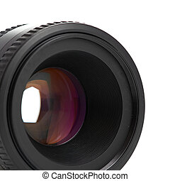 photo lens isolated on a white background