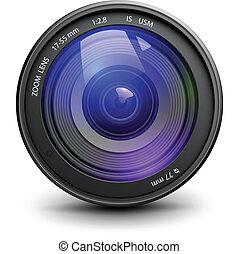 Photo lens - Camera photo lens, vector.