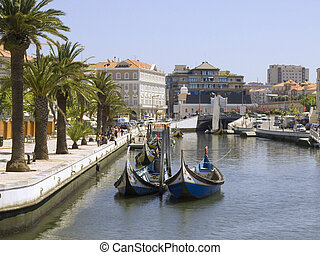Photo made in Portugal, Aveiro - Detail from one water canal...