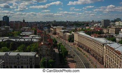 photo, maidan, ukraine., aérien, nezalezhnosti., kiev