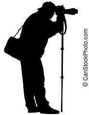 Photo man on white background