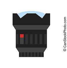 photo, moderne, lentille, vecteur, appareil photo, icône