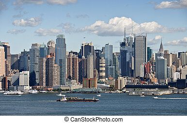 new york cityscape over the hudson river